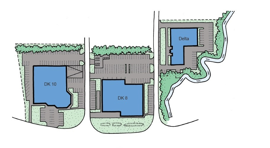 Concept sketch of the Aquafin headquarters' old site